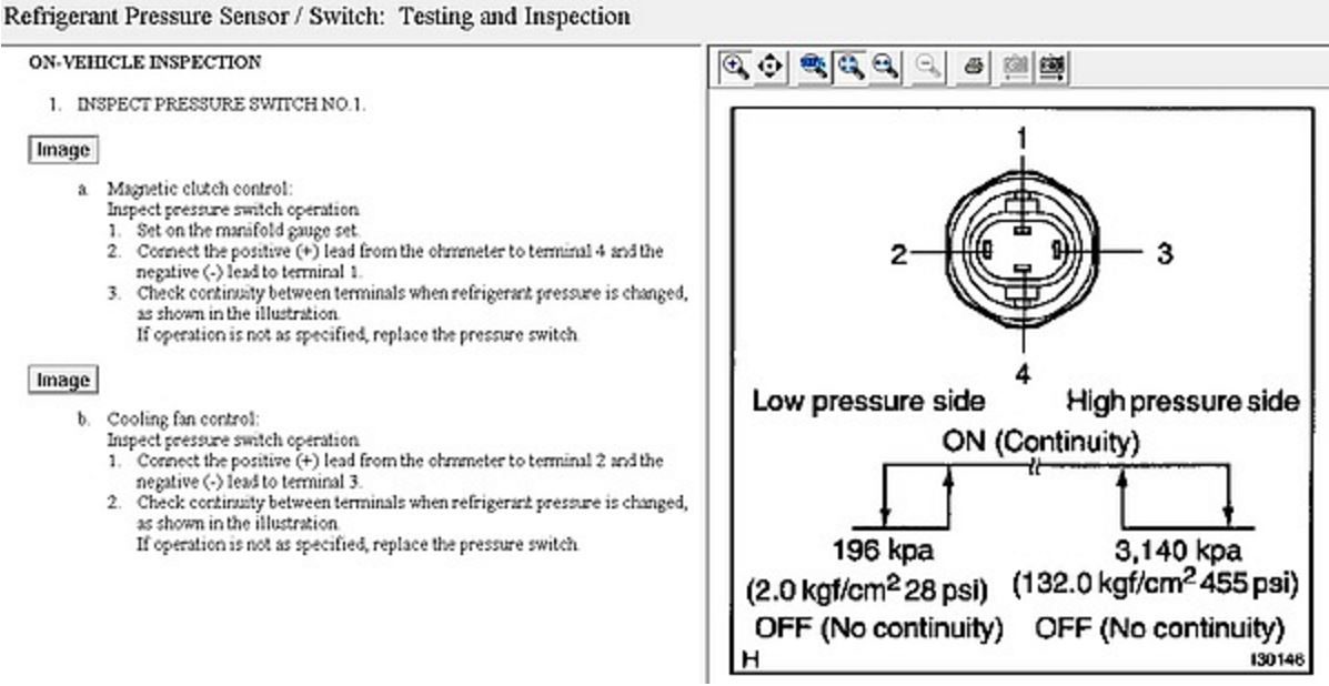 Triple Pressure AC switch test? | Toyota Nation ForumToyota Nation