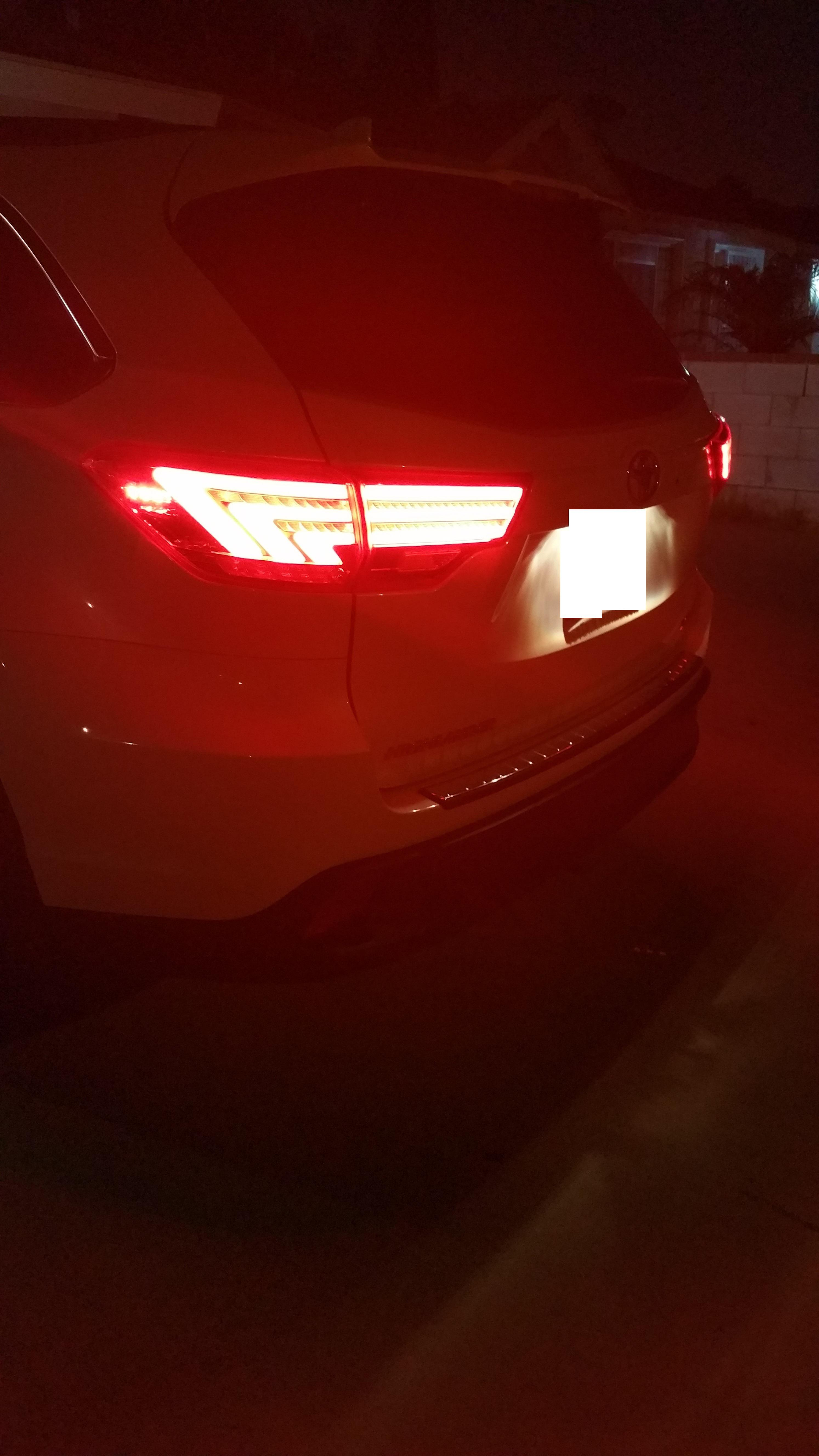 ebay LED tail lights installed - 2015 White XLE - Toyota ...
