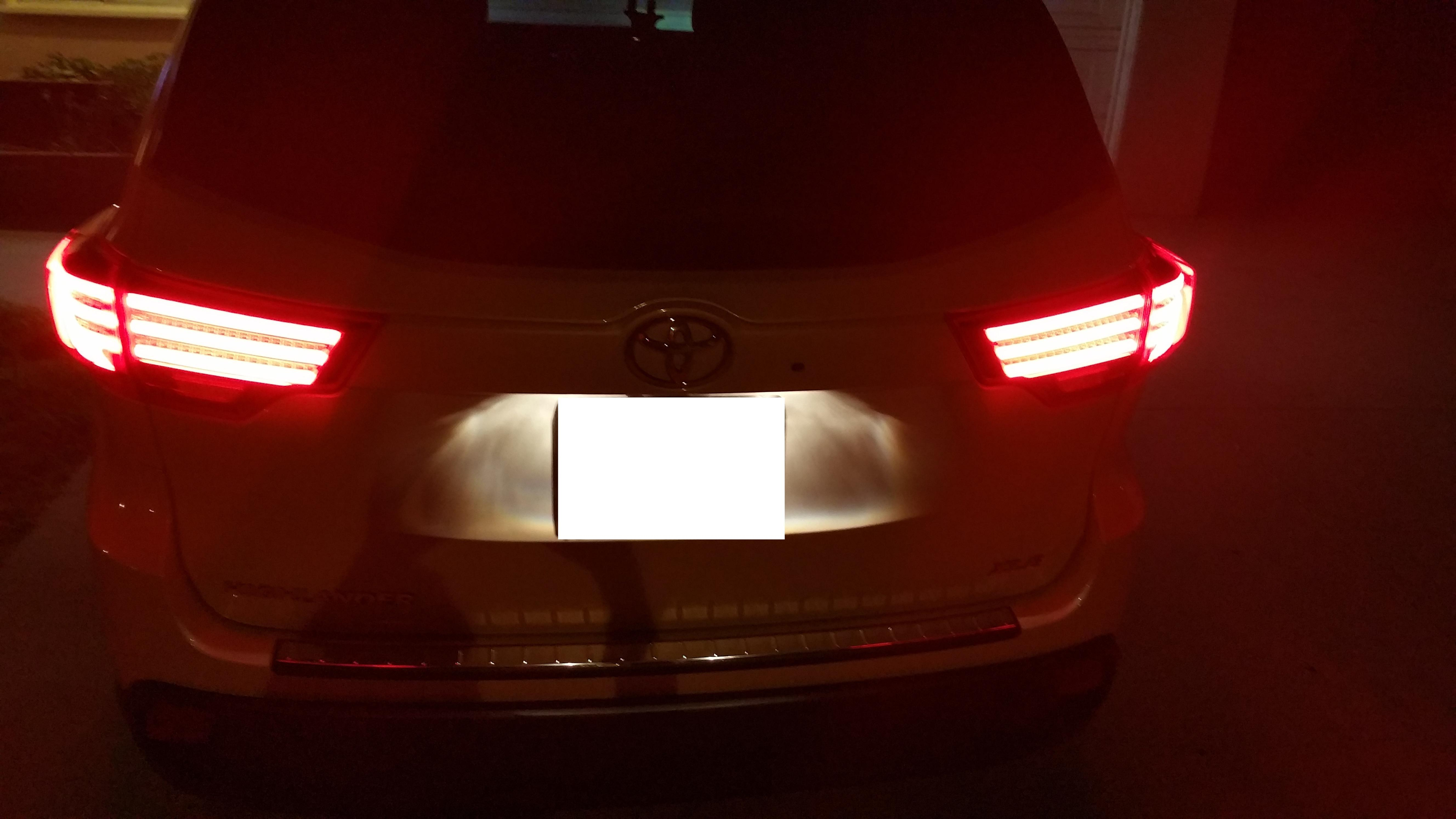Ebay Led Tail Lights Installed 2015 White Xle Toyota
