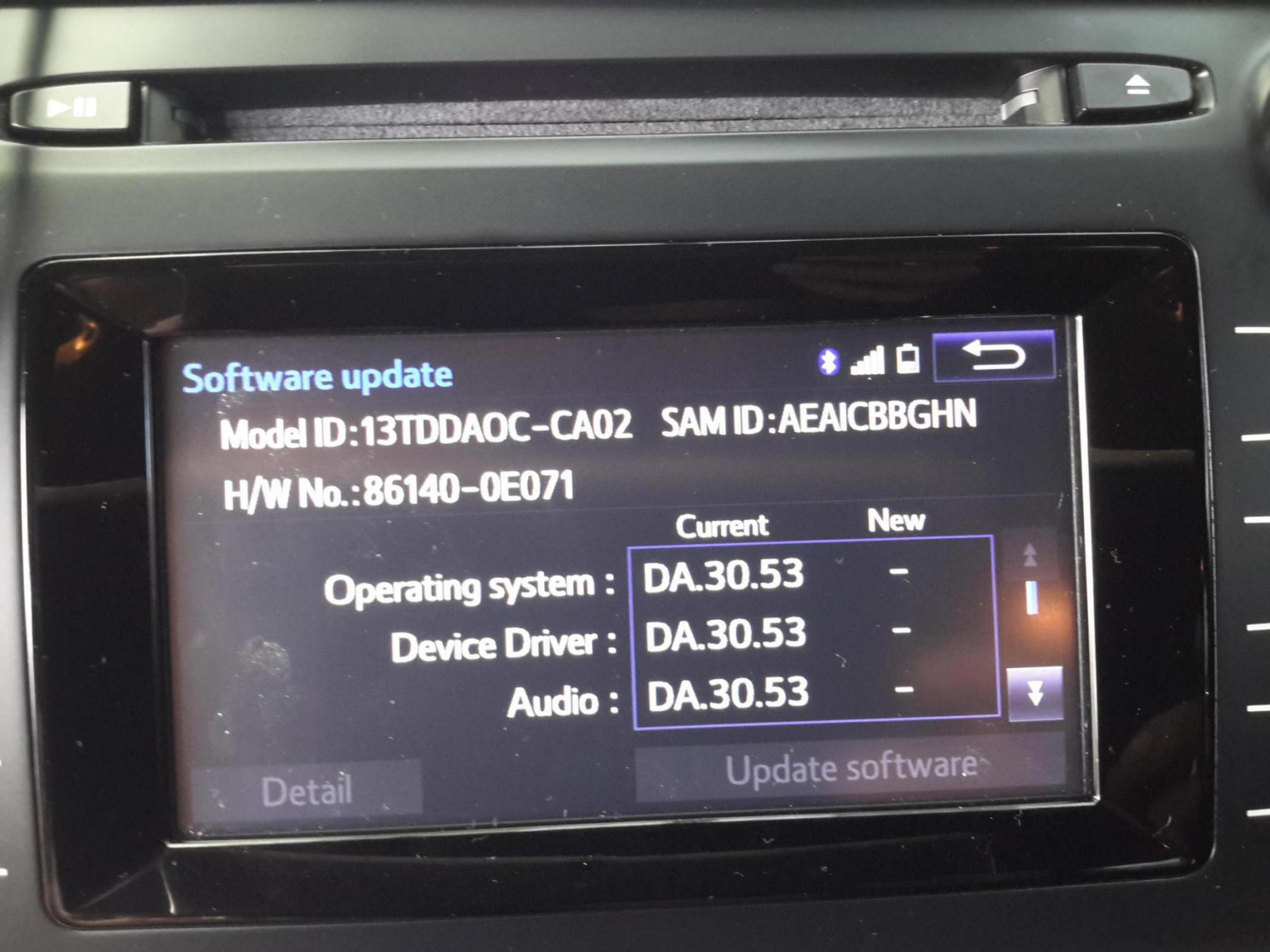 Software Updated Or Latest Toyota Nation Forum Toyota Car