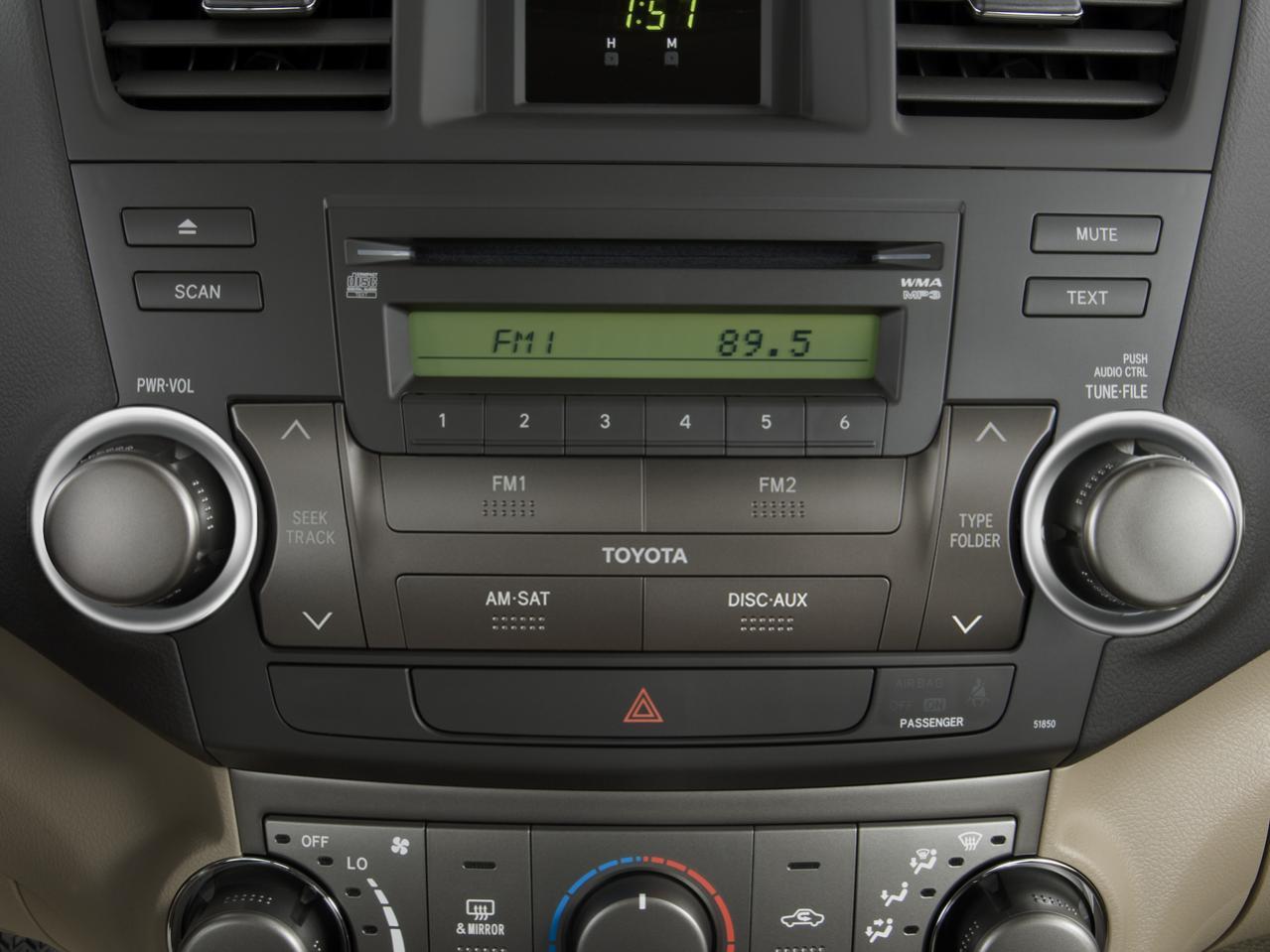 2008 highlander radio knob