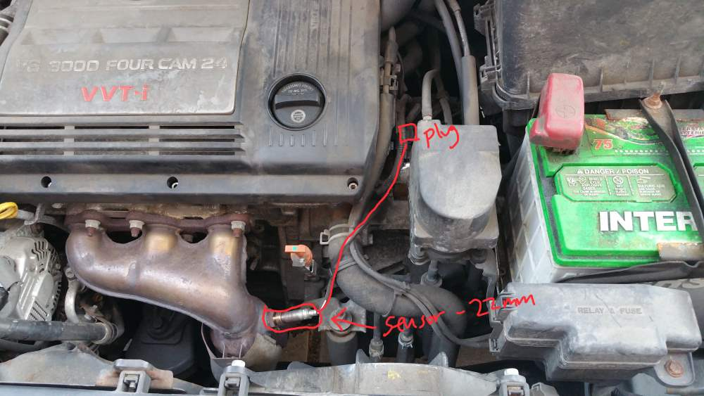 2000 Toyota Sienna Coolant Temperature Sensor Location