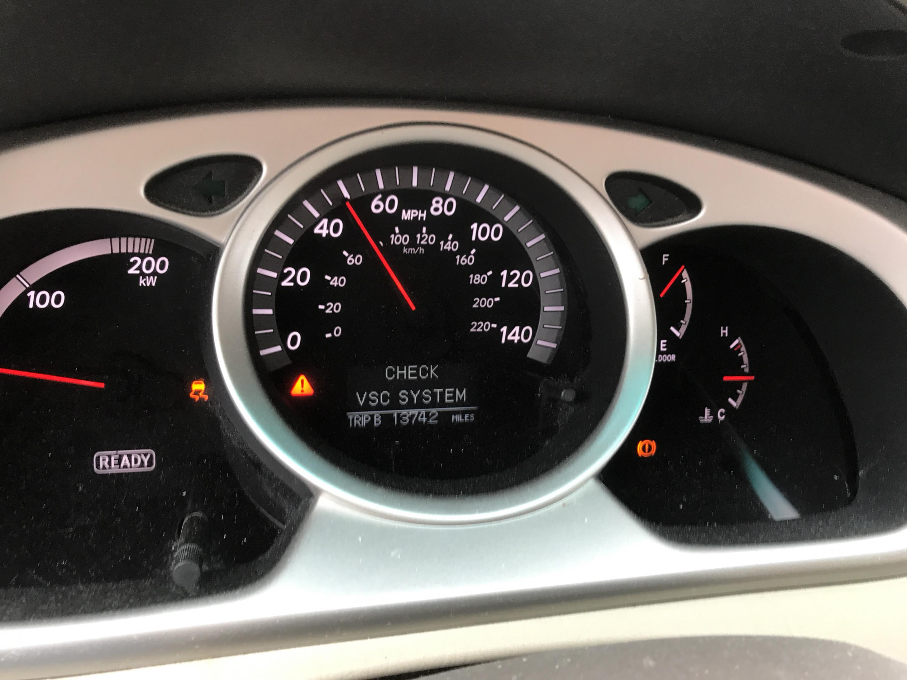 How To Reset Check Engine And Vsc Warning Lights Page 3 Toyota