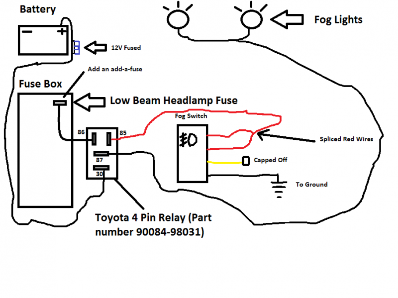 Factory Style Fog Wiring Toyota, Wiring Diagram For Fog Lights