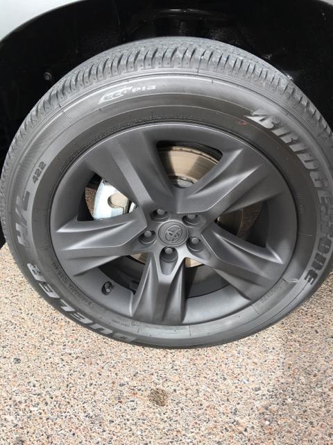 Plastidipped The Chrometech Wheels Black On My 2016 Highlander