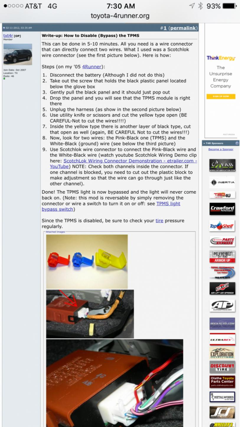 Tpms Wire Splice Toyota Nation Forum Car And Truck Forums 08 4runner Wiring Diagram Click Image For Larger Version Name 1461286448498 Views 251 Size 1526