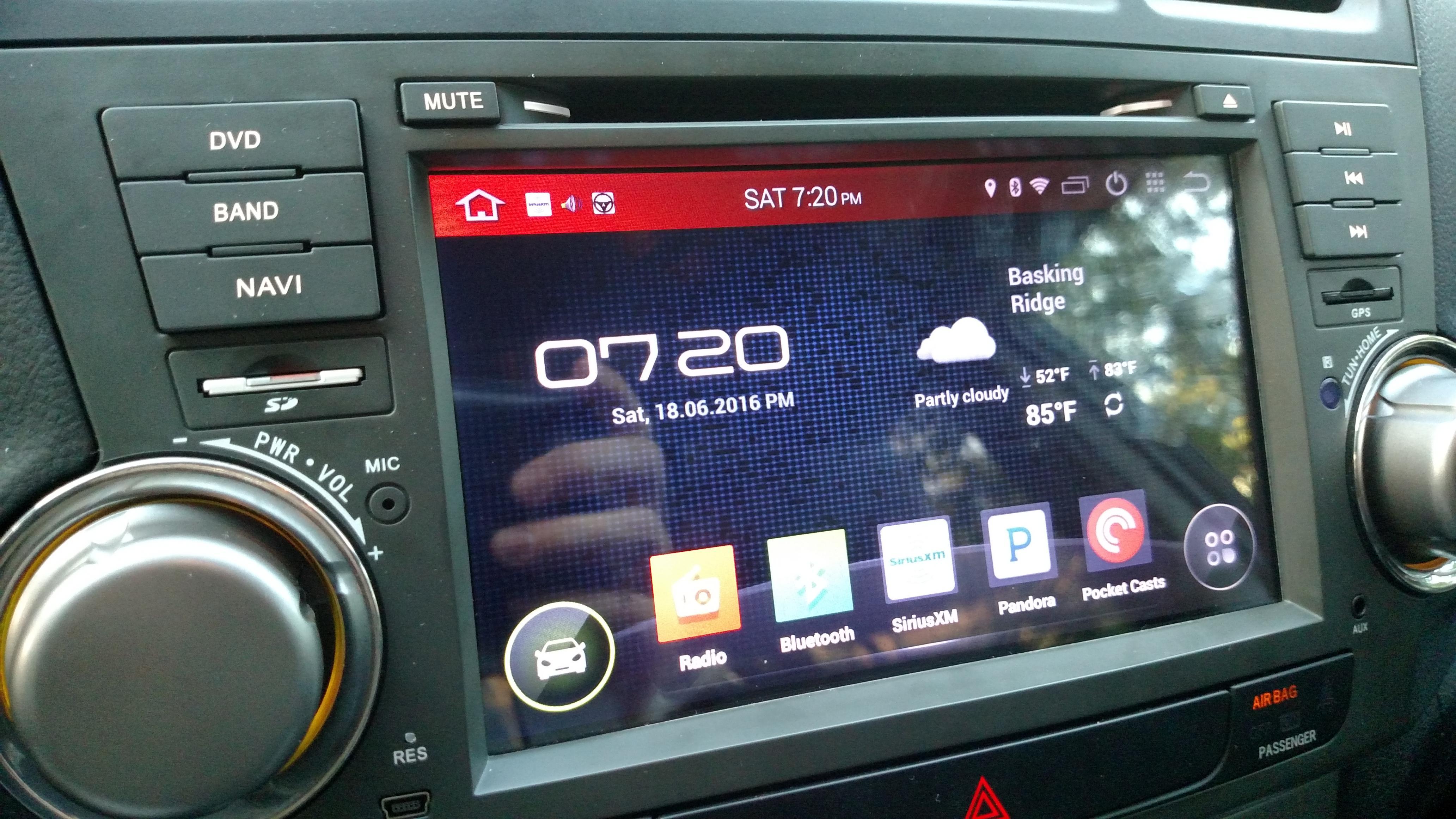 OEM fit Android Head Unit Radio DVD Navigation upgrade installation