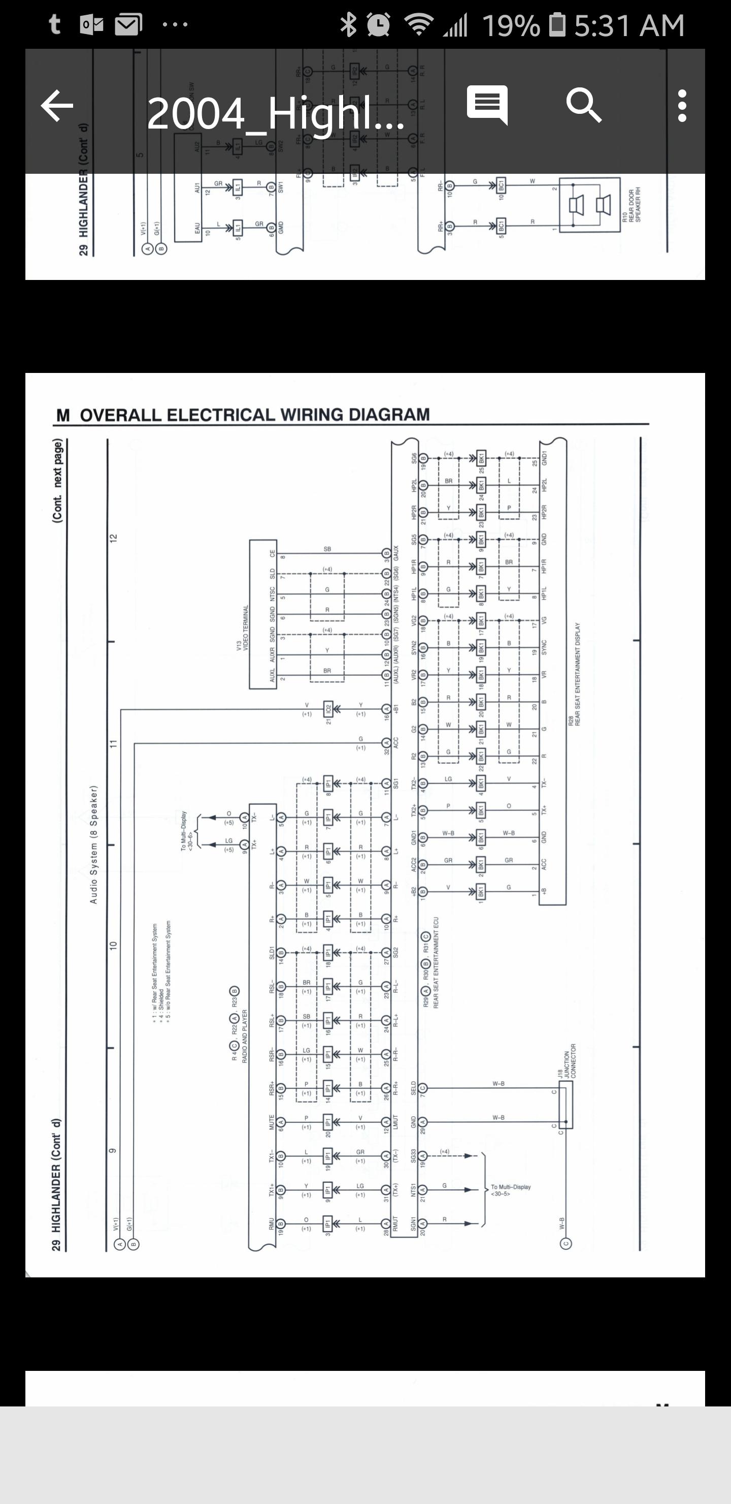 Highlander Stereo Wiring Diagram - Wiring Diagram