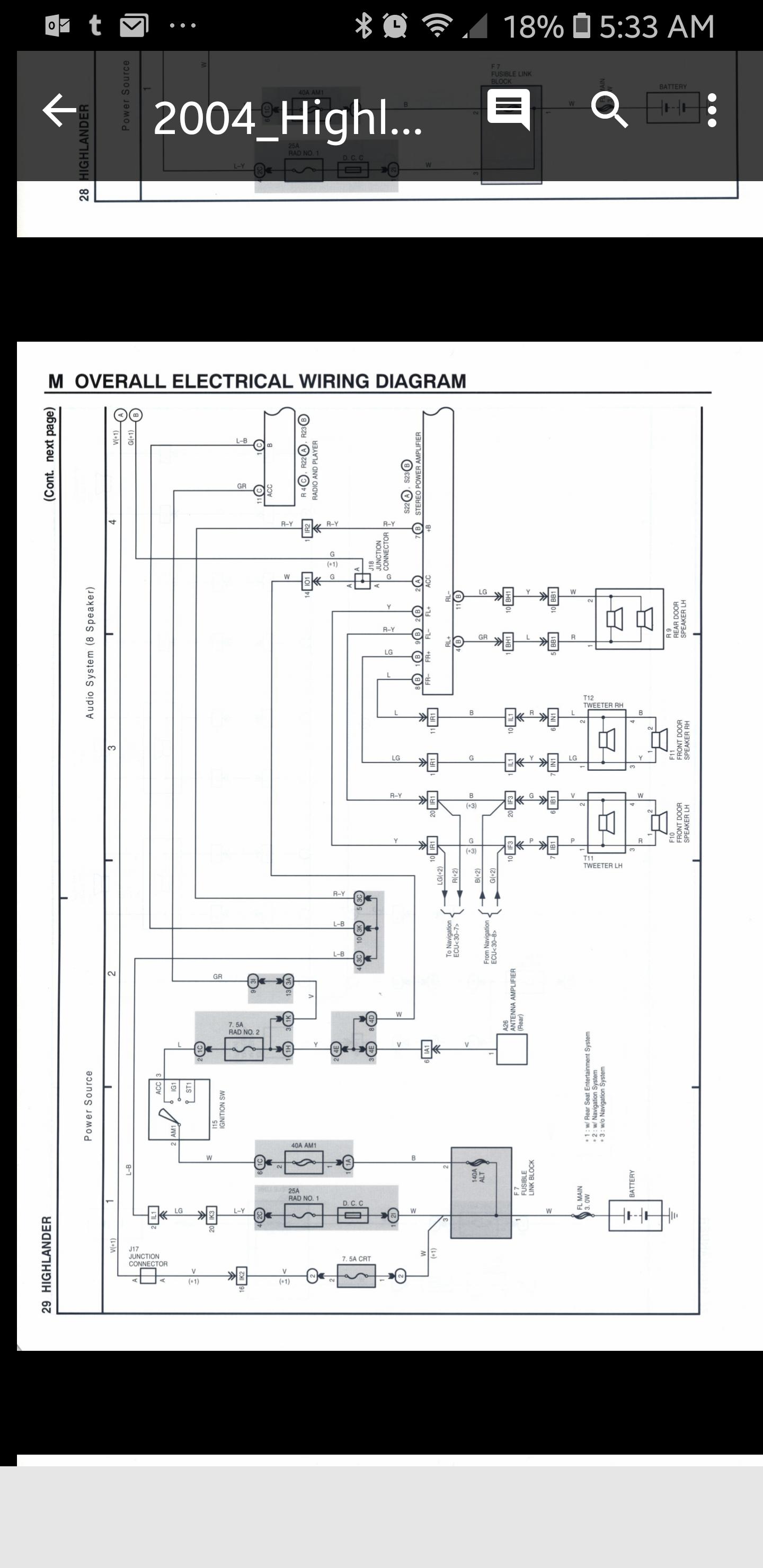 Toyotum Highlander Seat Wiring Diagram