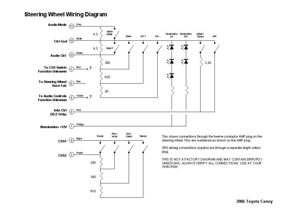 94 Toyotum Camry With Factory Stereo Amp Wiring Diagram