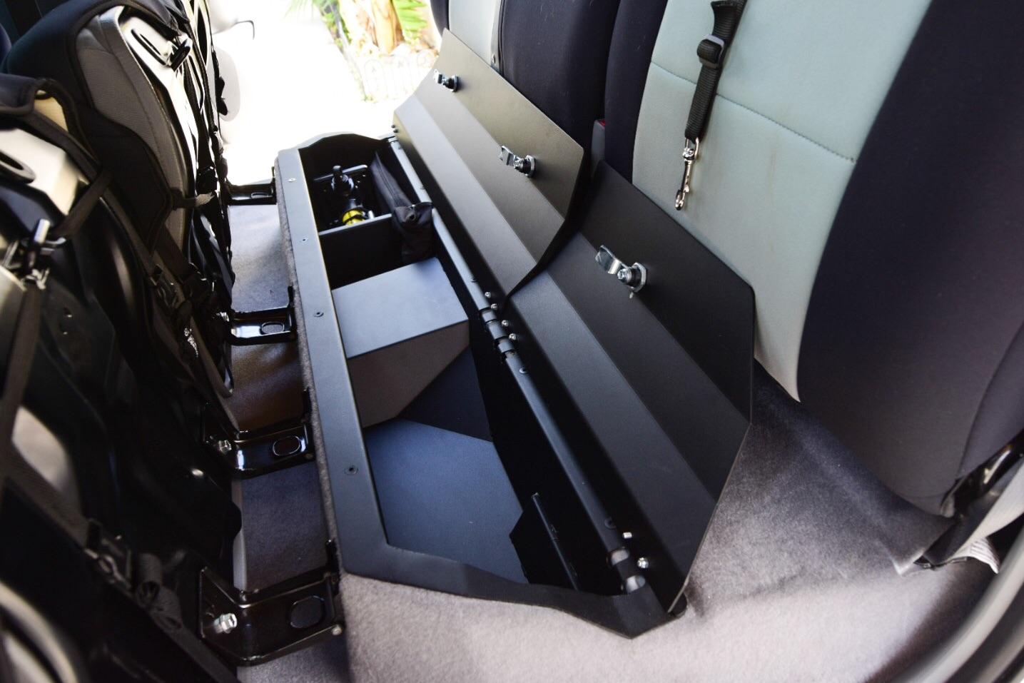 under seat storage units by esp truck accessories toyota. Black Bedroom Furniture Sets. Home Design Ideas