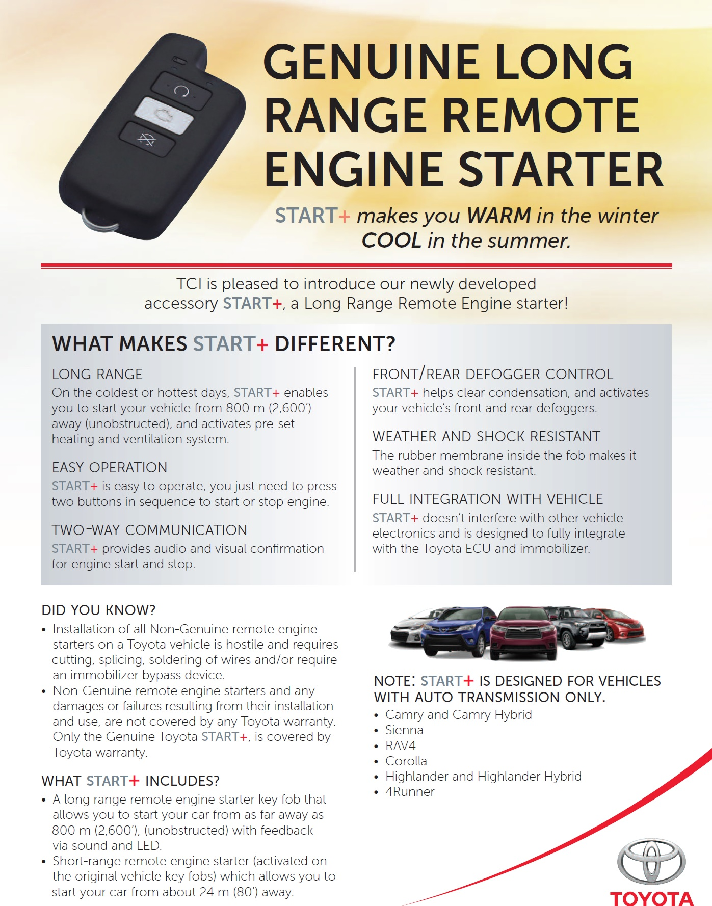 2017 remote start - Toyota Nation Forum : Toyota Car and Truck Forums