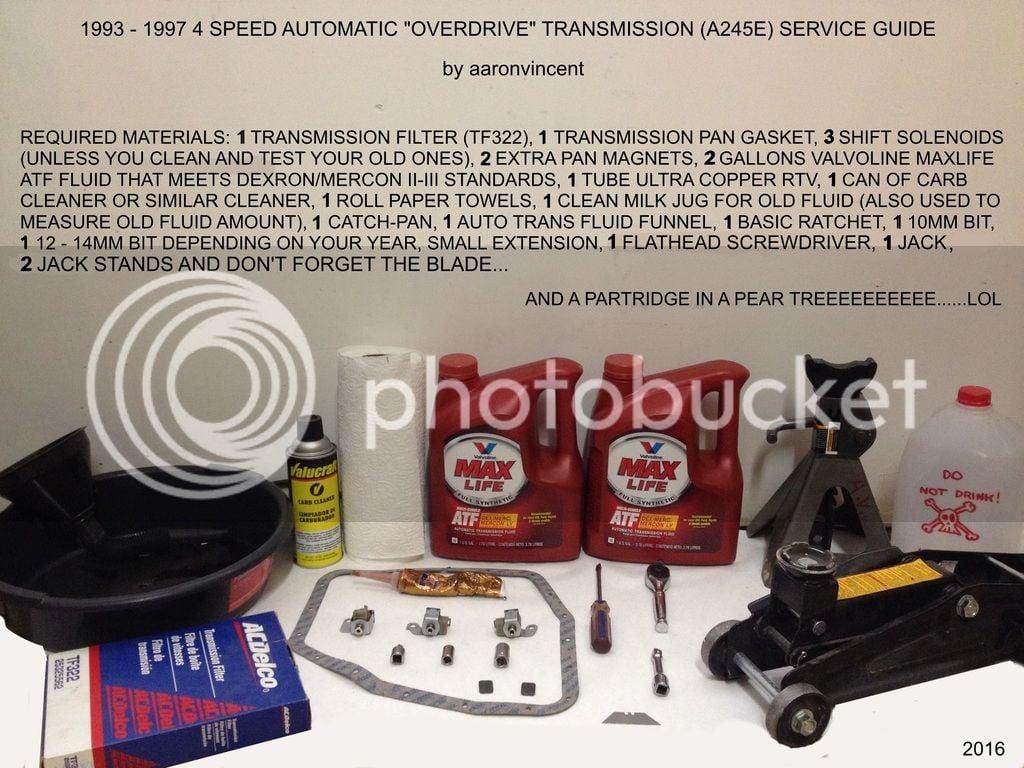DIY: A245E 4 Sd Automatic Transmission Overhaul   Toyota ... on