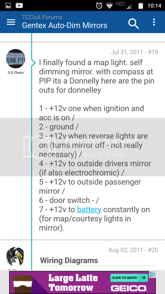 Putting a Auto Dimming Mirror in a G5.5 | Toyota Nation Forum on