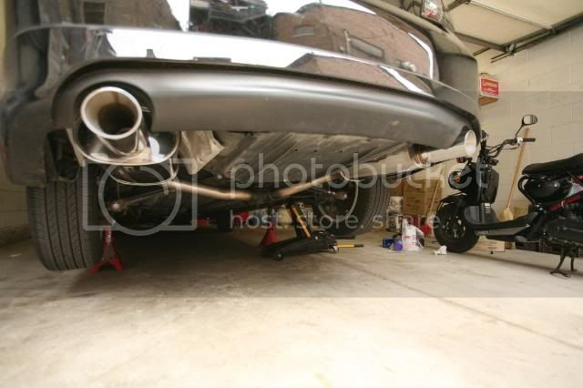 Custom Apexi WS2 Exhaust Catback on Gen6 V6 (Picture