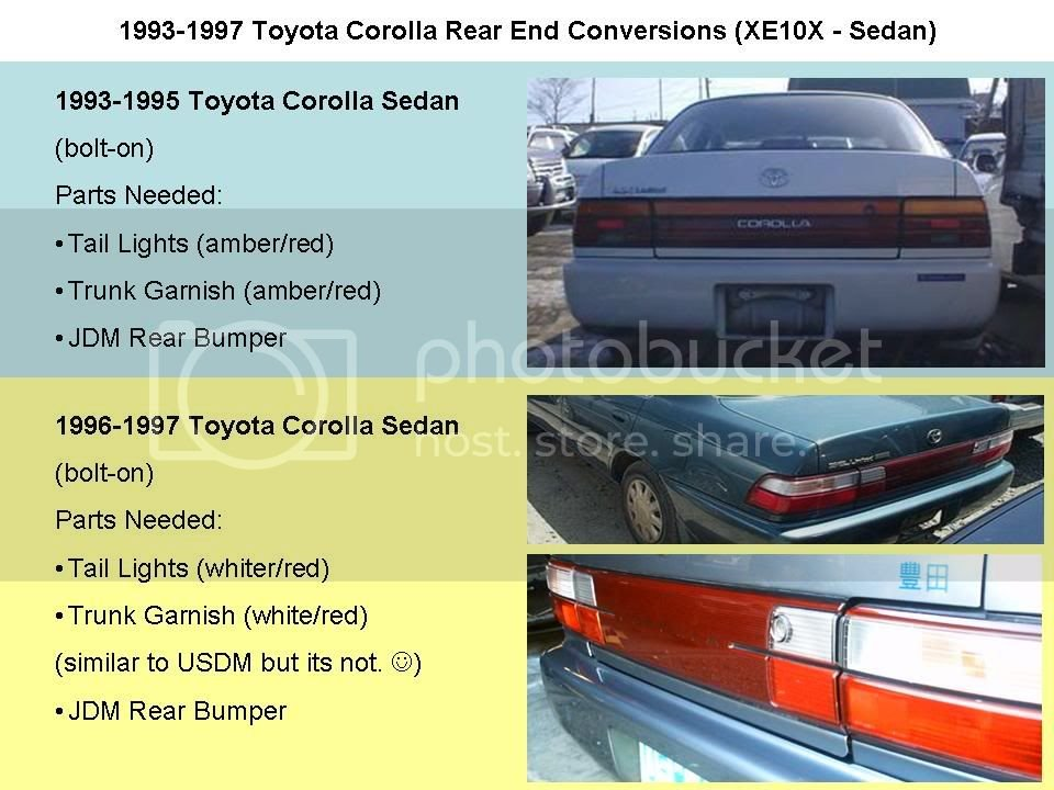AE101 JDM Conversions (Front and Rear) | Toyota Nation Forum