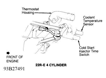 Coolant temperature sensor plug | Toyota Nation Forum