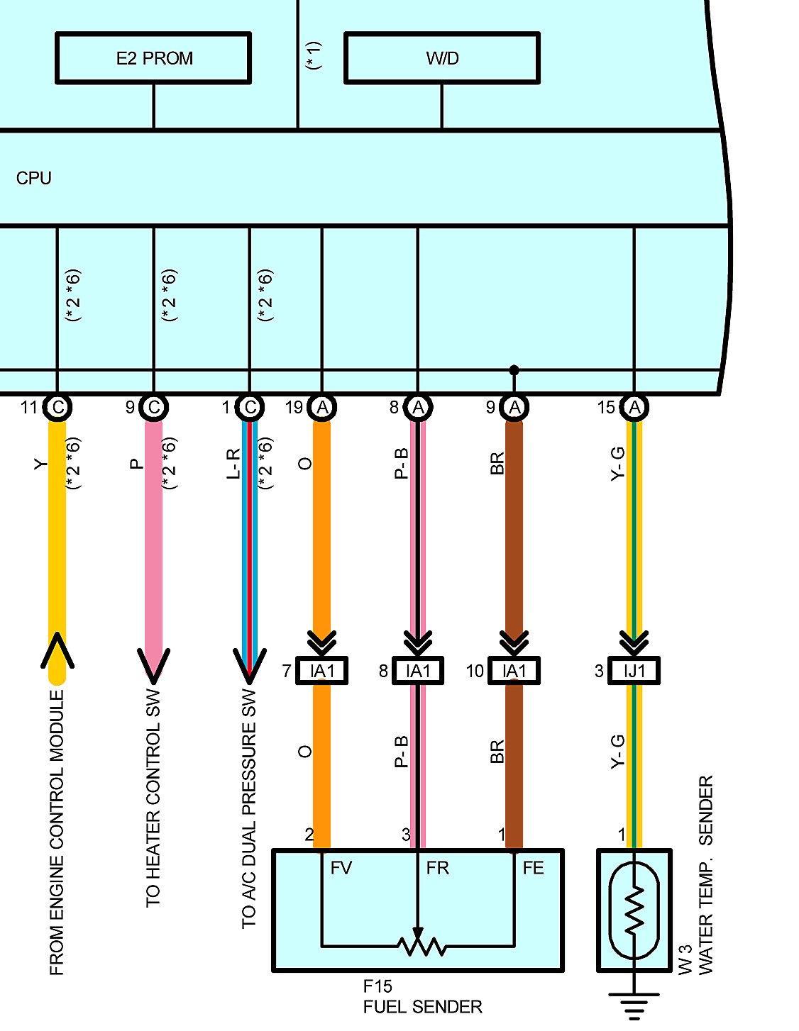 Need help interpreting wiring diagram | Toyota Nation Forum  Runner Fuel Gauge Wiring Schematic on