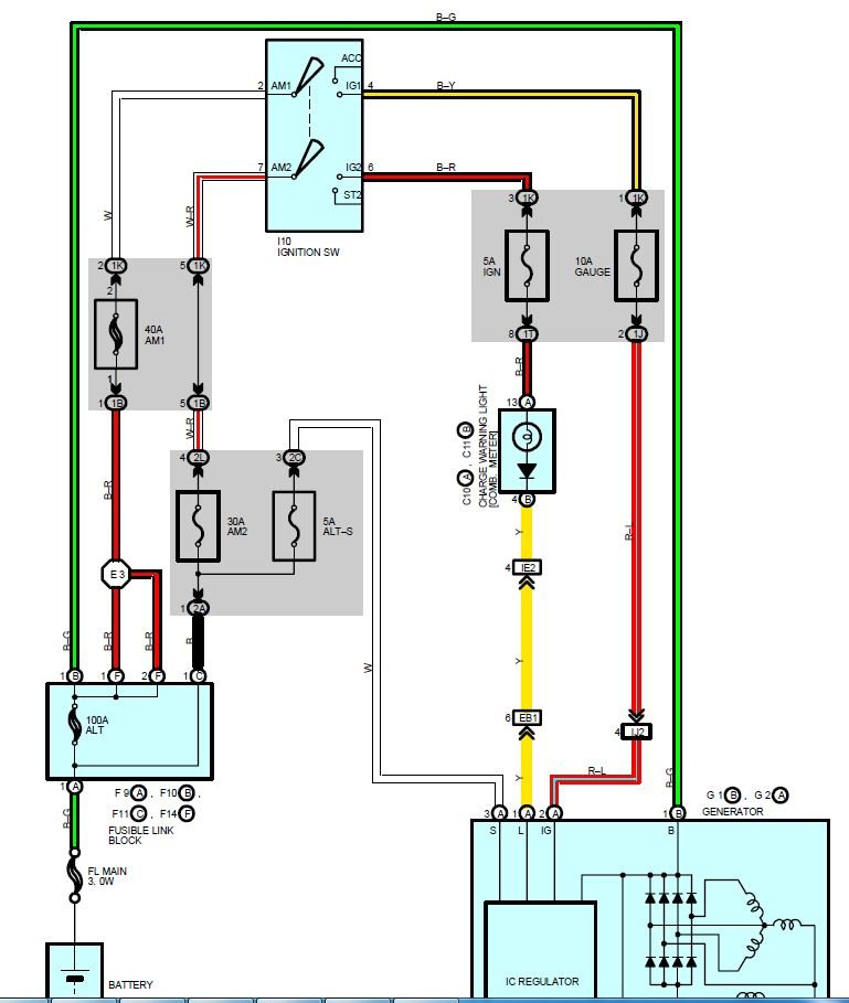 Car still not charging, alt/batt both tested & replaced. Please help! - 1998  Camry | Toyota Nation Forum | 1998 Camry Heater Wiring Schematic |  | Toyota Nation Forum
