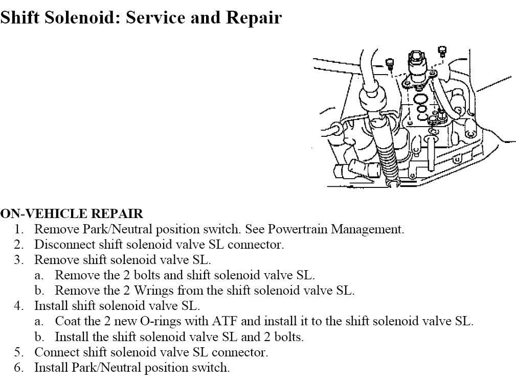 DIY - Replacing Lockup Shift Solenoid E/#3 (Code p0773