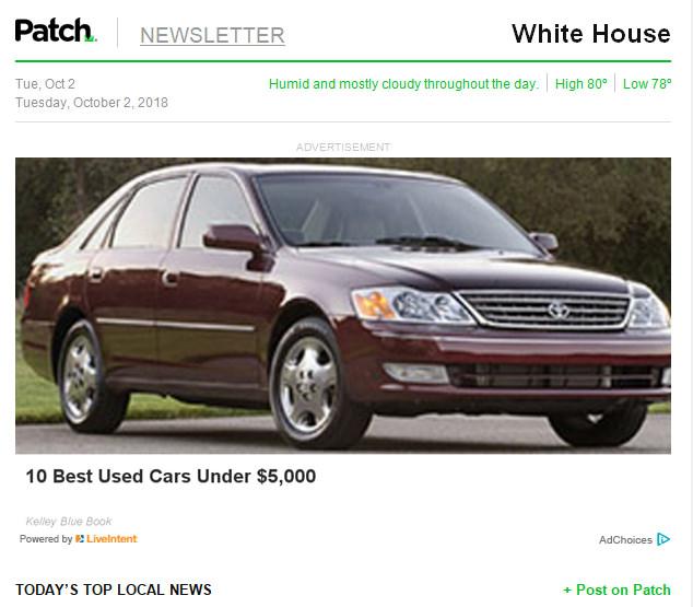 2003 Avalon Best Used Car Under $5k