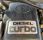 For Sale: DIESEL CONVERSION. KZN185 1KZ-TE 3.0L Turbo Diesel with front mounted inter-cooler.