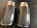 Carbon fiber exhaust tips