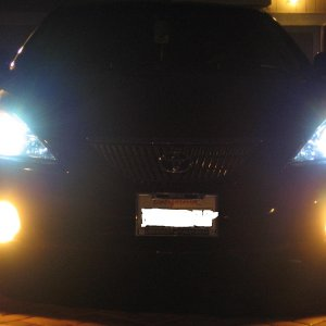 6000k HIDs + 2500k fog lights